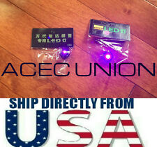 2 X High Quality MG 1/100 QANT Raiser Gundam PURPLE LED Lights - U.S.A. SELLER