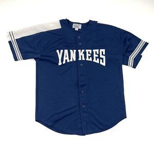 Vintage New York Yankees Jersey Size Adult Large Blue MLB Baseball 90s Starter
