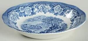 Royal Warwick Lochs of Scotland Blue Soup Bowl 641207