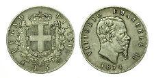 pcc1636_9) Regno Vittorio Emanuele II lire 5 scudo 1874