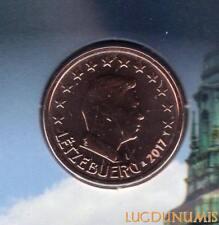 Luxembourg 2017 2 Centimes D'euro BU FDC Pièce Provenant du BU 5000 Exemplaires