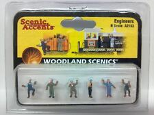 Engineers - Woodland Scenics N Scale Figures People Model Trains Diorama A 2153