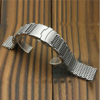 H-Link CO-Shark Stainless Steel Mesh Strap Bracelet Wrist Watch Band 20/22/24mm
