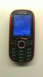 Samsung Intensity SCH-U450 - 128 MB - Red (Verizon) Cellphone - Used - Works