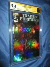 TRANSFORMERS Generation 1 #1 CGC 9.4 SS Signed by Peter Cullen OPTIMUS PRIME