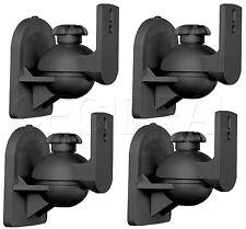 4 Pack Lot - Universal Satellite Speaker Black Wall Mount Brackets fits Bose