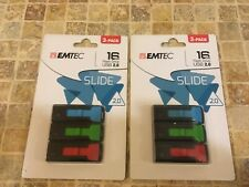 2 - EMTEC 16 GB USB 2.0 Flash Drive 3 Pack - New