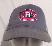 NHL Montreal Canadiens Reebok Men Gray Flex Fit Hat size S/M