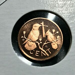 1975 BRITISH VIRGIN ISLANDS 1 CENT BRILLIANT UNCIRCULATED COIN