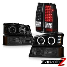 "2003-2006 Chevy Silverado ""SINISTER BLACK"" Halo Headlight Bumper LED Tail Lights"