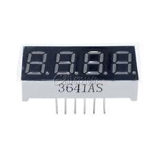 "2PCS 7 Segment 4 Digit Common Cathode 0.36 inch RED LED 0.36"" digital display"