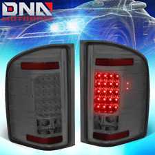 FOR 07-14 CHEVY SILVERADO CHROME SMOKED LED TAIL LIGHT BRAKE LAMP REPLACEMENT