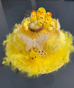 Easter Girls Bonnet Ready Handmade Decorated Hat School Parades Hunt Party