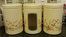 RARE Vintage Three x Marks and Spencer M&S Harvest Tin Canisters Bundle