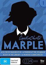 Agatha Christie's Miss Marple : Season 1 (DVD, 2016, 4-Disc Set)(D113)
