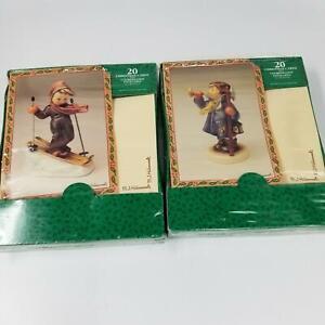 Paper Magic Group Hummel Christmas Cards Boy Skiing Boy Horn 20 Cards Lot 2