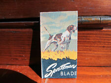 2-Sportsman Razor Blades- pictures pointer dog - new old stock
