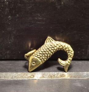 Sailor Steampunk nautical style Brass Fish Charm pendant
