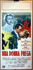 locandina film UNA DONNA PREGA Lia Amanda Alba Arnova Otello Toso 1953