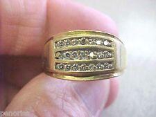 Ring Size 10 Make Offer Mens 10K Gold & Diamond