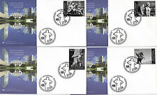 UNITED NATIONS 2008 DEFINITIVES ON 4 FIRST DAY COVERS VIENNA SHSs