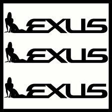 2 X Lexus Vinyl Car Stickers Decals Funny Custom