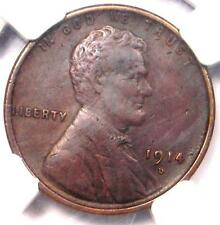 1914-D Lincoln Wheat Cent 1C - NGC XF Details (EF) - Rare Key Date Penny!