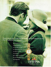 PUBLICITE ADVERTISING 094  1994  FESTINA  collection montre femme