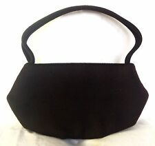 Vintage Rare 40/50s Bag by Josef Brown Wool Handbag w/Flex Frame Mint Condition