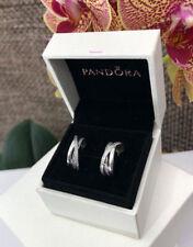 Pandora Entwined Hoop Earrings, w/box, Original, Brand New, #290730CZ