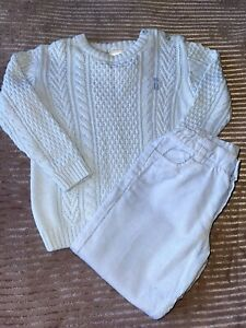 Traditional Tutto Piccolo Boys Winter Trousers And Jumper Set 36 Months