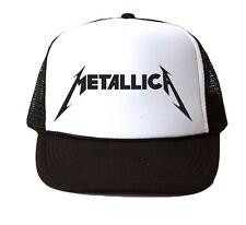 Metallica Camionero Sombrero Red Gorra Gorra Ajustable Nueva Marca-Negro d9acf65050d