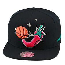 Mitchell & Ness NBA All Star Game 1996 Snapback Hat BLACK/Pink Pepper/BLACK BOT