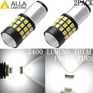 Alla Lighting 39-LED Front Turn Signal Light Bulbs for Hyundai,White 1157 BAY15D