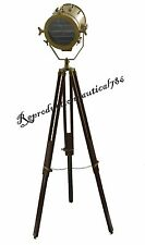 Nautical Tripod Spot Searchlight With Tripod Marine Studio Floor Lamp Decorative