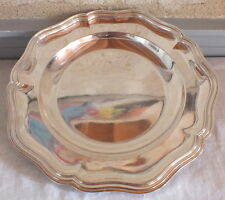 plat rond métal argenté Félix Frères silver plated dish