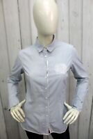 TOMMY HILFIGER  Camicia Donna Shirt Casual Cotone Manica Lunga Taglia Size S