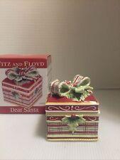 Fitz And Floyd Dear Santa Candy Box Vnc Iob