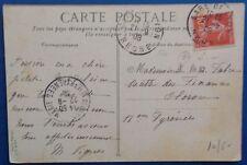 France carte avec cachet gare de Lyon (Rhône) 1908
