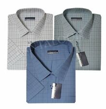 557 -Mens Check Short Sleeve Casual/Formal Summer Shirts  M to 6XL  By TOM HAGAN