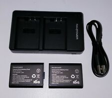 LP-E10 RAVPower 2-Pack LP E10 Batteries and Dual Camera Battery Charger Set