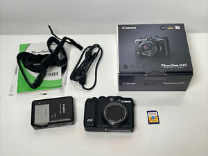 Canon PowerShot G15 12.1 MP Digital Camera w/ all Accessories 2GB Memory Card