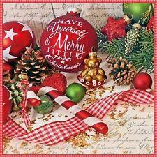 5  x   Paper Napkins for Decoupage Merry Little Christmas Napkin Art