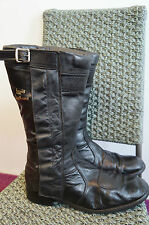VINTAGE LEWIS LEATHERS MOTORCYCLE BOOTS  SIZE 11 MADE IN ENGLAND