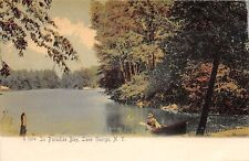 Lake George Ny Boating In Paradise Bay~Rotograph #1274 Publ Postcard 1900s