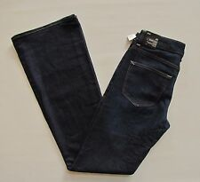 New Gap Modern Flare leg Jeans 27 4 R Dark Blue Mid rise Stretch 1969 Denim 2013