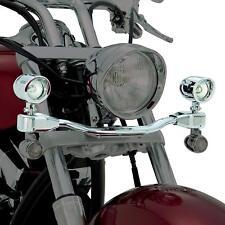 Show Chrome 55-363 Mini Elliptical Driving Light Bar Kit For 10-18 Fury VT1300