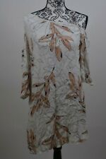 1. State White Women's One Shoulder Floral Shift Dress Size S