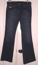 DIESEL RAME WOMEN'S BOOT CUT STRETCH JEANS FADED WISKERED SIZE 30 x 32 ITALY