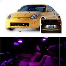 For Nissan 350Z 2003-2009 Pink LED Interior Kit + Xenon White License Light LED